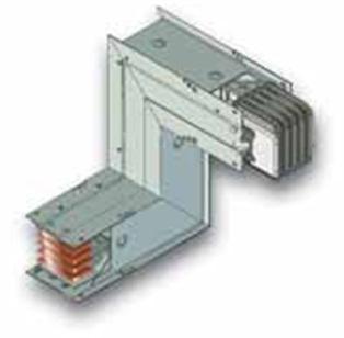 Z-образная вертикальная секция шинопровода с изменением направления линии