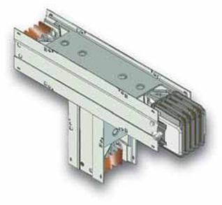 тройниковая вертикальная секция шинопровода