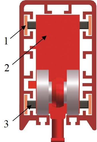 Троллейный шинопровод: вид в разрезе
