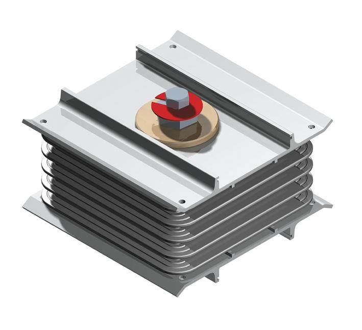 Стыковочный блок, для соединения секций шинопровода